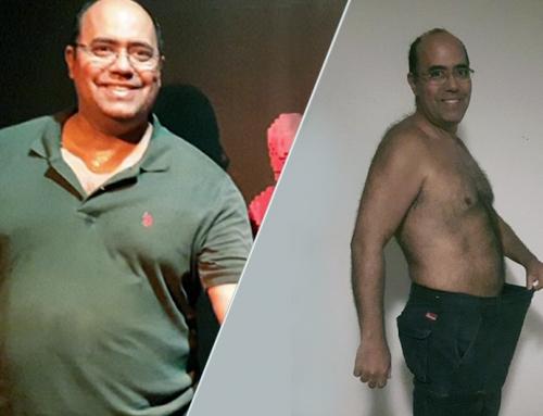Cliente perde 34 quilos sem dieta restritiva