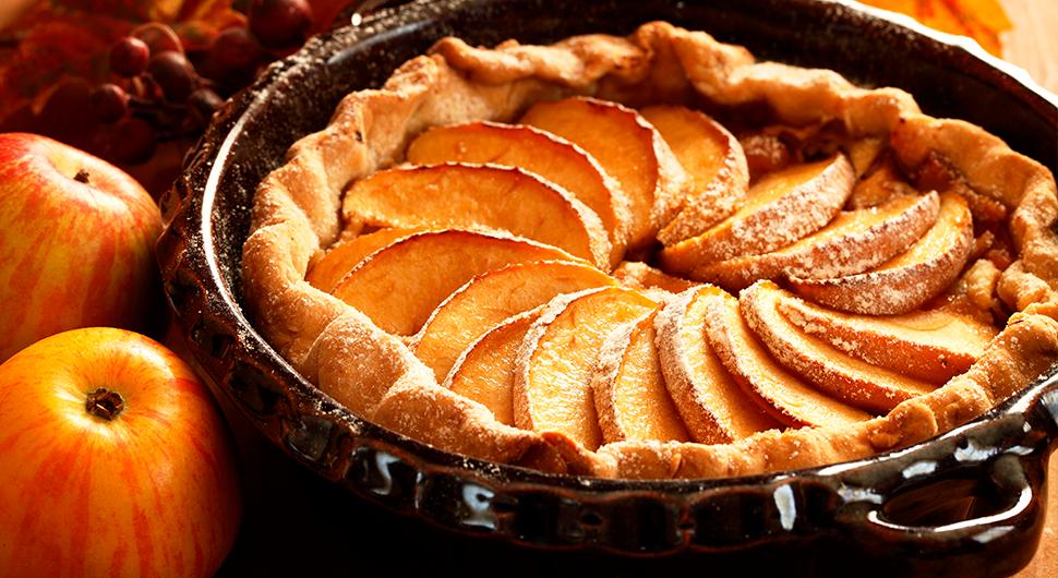 torta de maçã fit